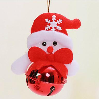 원형 링 크리스마스 벨의 벨 산타 클로스의 크리스마스 트리 장식 배열 모델링