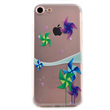 For iPhone 7 Case / iPhone 6 Case / iPhone 5 Case Ultra-thin / Pattern Case Back Cover Case Cartoon Soft TPU AppleiPhone 7 Plus / iPhone