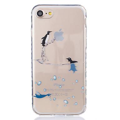 용 투명 / 패턴 케이스 뒷면 커버 케이스 동물 소프트 TPU Apple 아이폰 7 플러스 / 아이폰 (7) / iPhone 6s Plus/6 Plus / iPhone 6s/6 / iPhone SE/5s/5