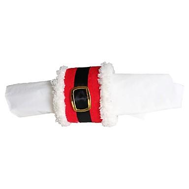 파티 용품 4 개 / 많은 크리스마스 냅킨 링 산타 절 벨트 버클 냅킨 링 패키지 크리스마스 장식