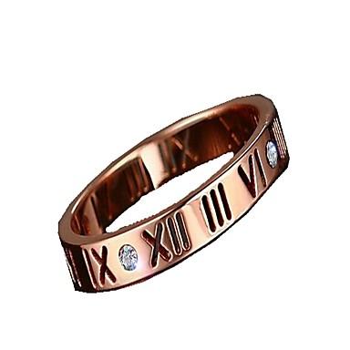 Férfi Női Karikagyűrűk Ékszerek Divat Titanium Acél Ékszerek Kompatibilitás Napi Hétköznapi