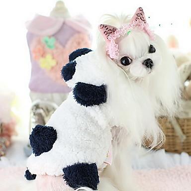 강아지 코트 강아지 의류 귀여운 캐쥬얼/데일리 카툰 화이트 코스츔 애완 동물