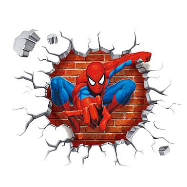 카툰 / 패션 / 3D 벽 스티커 플레인 월스티커 / 3D 월 스티커 데코레이티브 월 스티커,PVC 자료 이동가능 홈 장식 벽 데칼