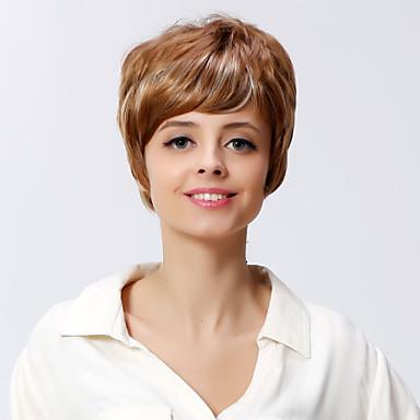 여성 인조 합성 가발 캡 없음 웨이브 딸기 금발 내츄럴 가발 의상 가발