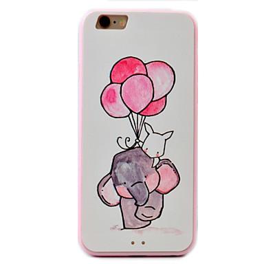 용 엠보싱 텍스쳐 / 패턴 케이스 뒷면 커버 케이스 코끼리 하드 아크릴 Apple 아이폰 7 플러스 / 아이폰 (7) / iPhone 6s Plus/6 Plus / iPhone 6s/6