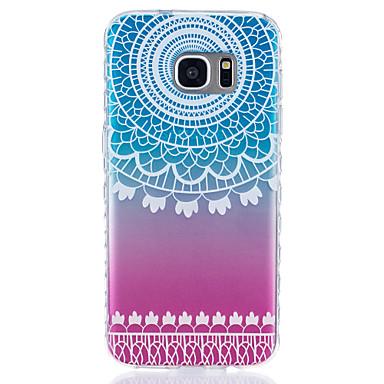 케이스 제품 Samsung Galaxy S7 edge S7 투명 패턴 뒷면 커버 기하학 패턴 소프트 TPU 용 S7 edge S7 S6 S5