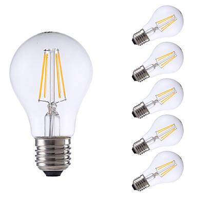 4W E26/E27 LED Filaman Ampuller A60(A19) 4 COB 550/400 lm Sıcak Beyaz Serin Beyaz Kısılabilir AC 220-240 V 6 parça