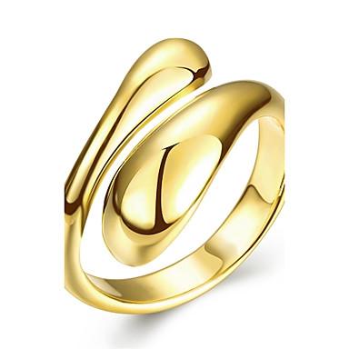 Női Gyűrű Ezüst Rózsa Aranyozott Rose Gold Réz Ezüstözött Arannyal bevont Rózsa arany bevonattal Geometric Shape Esküvő Parti Napi