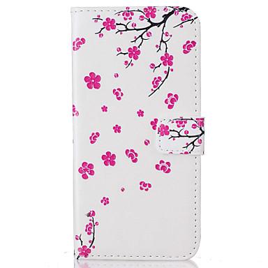 Case Kompatibilitás Huawei P9 Huawei P9 Lite Huawei Kártyatartó Flip Minta Héjtok Virág Kemény PU bőr mert