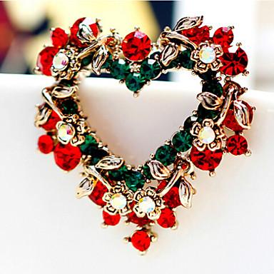 május polly divat high-end karácsonyi szív kitűző