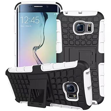 Case Kompatibilitás Samsung Galaxy Samsung Galaxy tok Ütésálló / Állvánnyal Fekete tok Páncél PC mert S7 edge / S7 / S6 edge