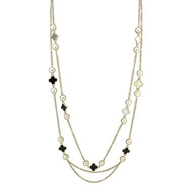Damskie Warstwy Naszyjniki Pearl imitacja Stop Modny biżuteria kostiumowa Biżuteria Na Impreza Codzienny Casual