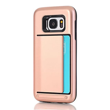 Kılıf Na Samsung Galaxy S8 Plus S8 Etui na karty Czarne etui Solid Color Twarde PC na S8 Plus S8 S7 edge S7 S6 edge S6 S5