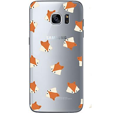 Pouzdro Uyumluluk Samsung Galaxy S7 edge S7 Ultra İnce Şeffaf Temalı Arka Kılıf Hayvan Yumuşak TPU için S7 edge S7 S6 edge plus S6 edge S6