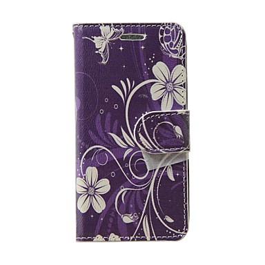 Için Cüzdan / Kart Tutucu / Satandlı / Flip Pouzdro Tam Kaplama Pouzdro Çiçek Yumuşak PU Deri için Samsung S Advance / Grand Neo