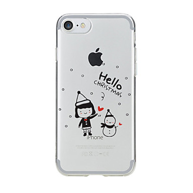 Için Şeffaf / Temalı Pouzdro Arka Kılıf Pouzdro Noel Yumuşak TPU için AppleiPhone 7 Plus / iPhone 7 / iPhone 6s Plus/6 Plus / iPhone 6s/6