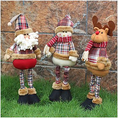1szt Bałwan Santa Figurki bożonarodzeniowe Święta Zabawne Impreza, Dekoracje świąteczne Ozdoby świąteczne