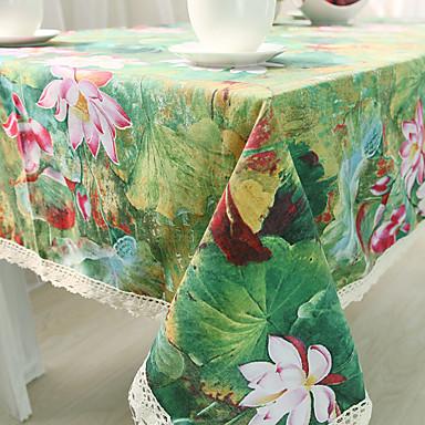 Neliö Kukka Patterned Table Cloths , Cotton Blend materiaali Hotel ruokapöytä Taulukko Dceoration
