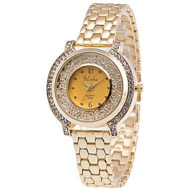 Damskie Modny Zegarek na nadgarstek Kryształowy zegarek Kwarcowy / Stal nierdzewna Pasmo Elegancki Nowoczesne Na co dzień Złoty