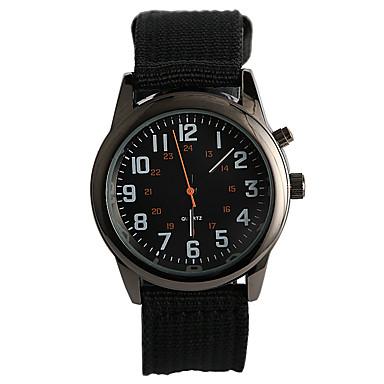 Erkek Moda Saat Gündelik Saatler Quartz / Kumaş Bant Günlük Siyah