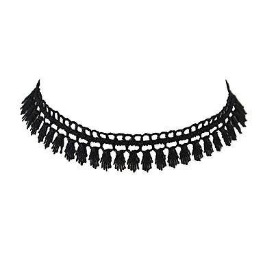Κολιέ Κολιέ Τσόκερ Κοσμήματα Causal Βασικό Δαντέλα Γυναικεία 1pc Δώρο Μαύρο