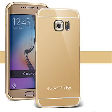 Capinha Para Samsung Galaxy Samsung Galaxy Capinhas Galvanizado Espelho Capa traseira Côr Sólida PC para S7 edge S7 S6 edge plus S6 edge