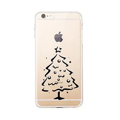 Etui Käyttötarkoitus Apple iPhone 5 kotelo iPhone 6 iPhone 7 Läpinäkyvä Kuvio Takakuori Joulu Pehmeä TPU varten iPhone 7 Plus iPhone 7