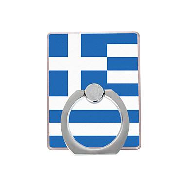 σημαία της Ελλάδας μοτίβο πλαστική θήκη δαχτυλιδιών / 360 περιστρεφόμενη για κινητό τηλέφωνο iphone 8 7 samsung galaxy s8 s7