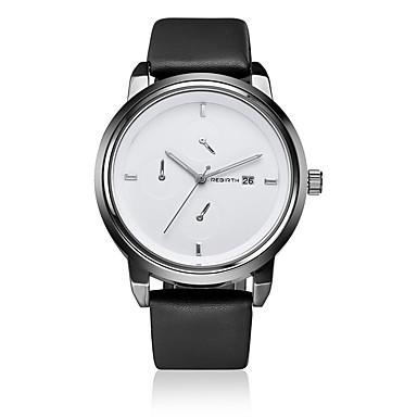 Ανδρικά Χαλαζίας Μοναδικό Creative ρολόι Ρολόι Καρπού Ημερολόγιο Ανθεκτικό στο Νερό Δέρμα Μπάντα Καθημερινό Μινιμαλιστική Μοντέρνα Μαύρο