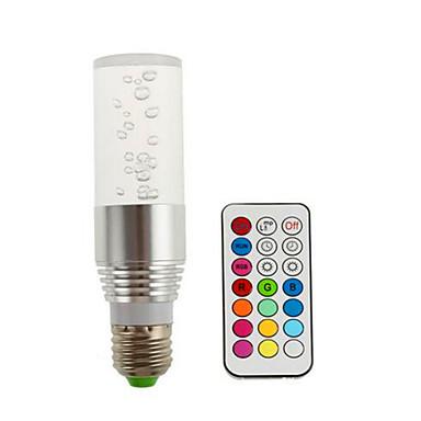1pc 3 W 200 lm E14 / GU10 / B22 Slimme LED-lampen 1 LED-kralen Krachtige LED Dimbaar / Op afstand bedienbaar / Decoratief RGB 85-265 V / 1 stuks / RoHs