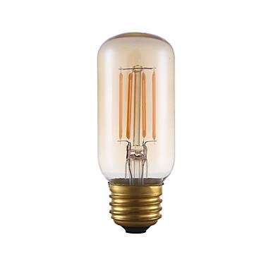 E26 LED Filaman Ampuller T 4 COB 300 lm Amber 2200 K Kısılabilir Dekorotif AC 110-130 V