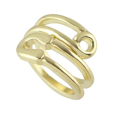 Κρίκοι Χωρίς Πετράδι Καθημερινά / Causal Κοσμήματα Κράμα Γυναικεία Βέρες 1pc,9 Χρυσαφί