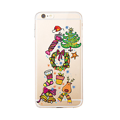 إلى شفاف / نموذج غطاء غطاء خلفي غطاء عيد الميلاد ناعم TPU إلى Appleفون 7 زائد / فون 7 / iPhone 6s Plus/6 Plus / iPhone 6s/6 / iPhone