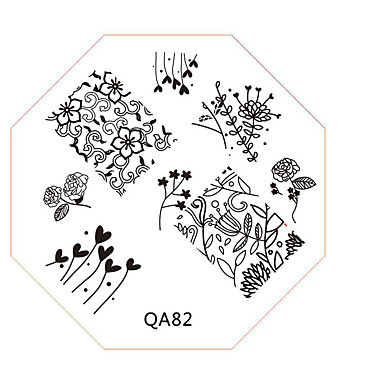 Nail Art leima leimaamalla kuvan mallin levy qa sarja