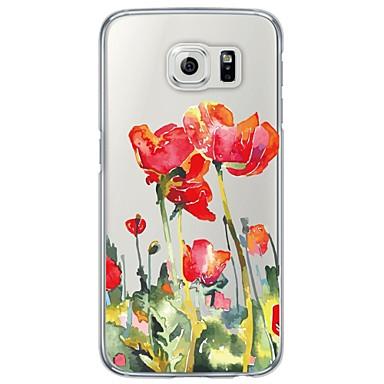 케이스 제품 Samsung Galaxy S7 edge S7 울트라 씬 반투명 뒷면 커버 꽃장식 소프트 TPU 용 S7 edge S7 S6 edge plus S6 edge S6 S5 S4