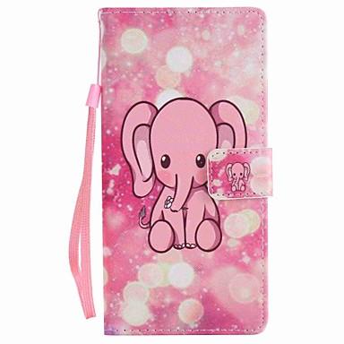 Για το sony xperia xa ultra x κάλυψη περίπτωσης κάλυψη ροζ ελέφαντα ζωγραφισμένα κορδόνι pu υπόθεση τηλέφωνο