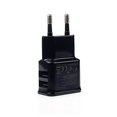 Ładowarka domowa Ładowarka przenośna Telefonowa ładowarka USB Wtyczka EU Szybkie ładowanie Wieloportowa 2 porty USB 2A AC 100V-240V Do