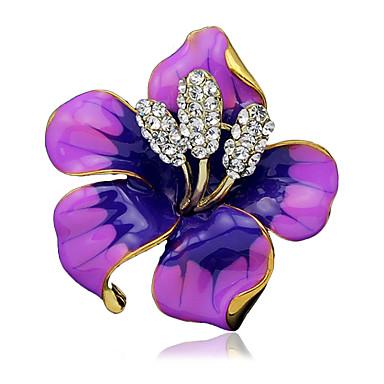 Damskie Broszki White Black Purple Czerwony Elegancki Biżuteria Ślub Impreza Na co dzień Codzienny Casual Biżuteria kostiumowa