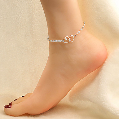 Women's Anklet / Bracelet Alloy Love Fashion Simple Style European Anklet Heart Jewelry For Party Daily Casual