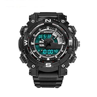 SANDA Męskie Zegarek na nadgarstek Inteligentny zegarek Wojskowy Modny Sportowy Cyfrowe Kwarc japoński Chronograf Wodoszczelny LED