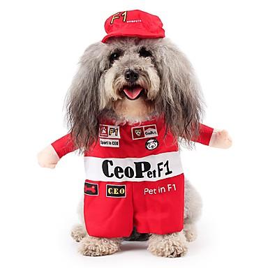 Kissa Koira Asut Koiran vaatteet Sievä Cosplay Hahmo Punainen Asu Lemmikit