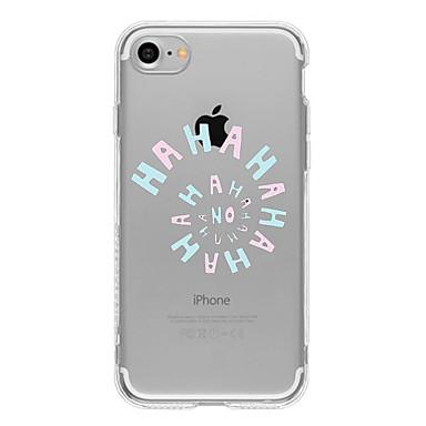 Mert Ultra-vékeny / Átlátszó / Minta Case Hátlap Case Szó / bölcselet Puha TPU AppleiPhone 7 Plus / iPhone 7 / iPhone 6s Plus/6 Plus /