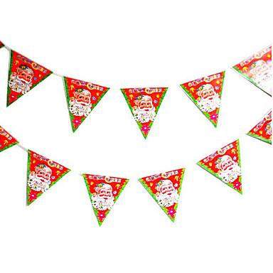 6PCS 디자인은 임의의 색상 장식 선물 링 수수 종소리 크리스마스 선물을 한 쌍의 크리스마스 트리 장식품을 ofing 역할을 행동 중지입니다