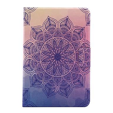 Için Kart Tutucu / Origami Pouzdro Arka Kılıf Pouzdro Çiçek Sert PU Deri için Apple iPad Mini 4 / iPad Mini 3/2/1