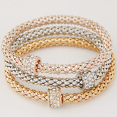 b979ba10f Women's Charm Bracelet Layered Stack Stacking Stackable Ladies Basic  European Simple Style Fashion Rhinestone Bracelet Jewelry