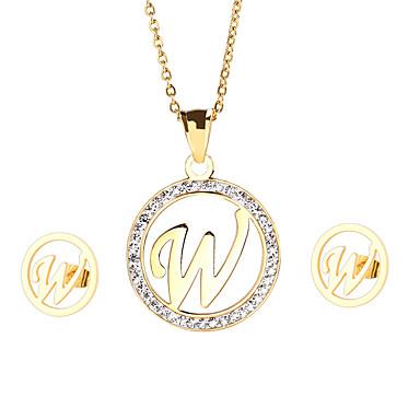 Damskie Zestawy biżuterii Początkowa Biżuteria Impreza Codzienny Casual Stal nierdzewna Pozłacane 1 Naszyjnik 1 parę kolczyków