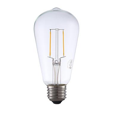 E26 LED Λάμπες Πυράκτωσης ST19 2 leds COB Με ροοστάτη Διακοσμητικό Θερμό Λευκό 220lm 2700K AC 110-130V