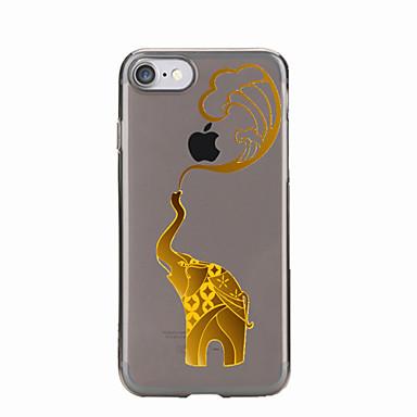 Varten Läpinäkyvä / Kuvio Etui Takakuori Etui Elefantti Pehmeä TPU varten AppleiPhone 7 Plus / iPhone 7 / iPhone 6s Plus/6 Plus / iPhone