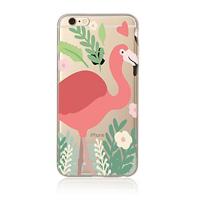 Pouzdro Uyumluluk Apple iPhone X iPhone 8 Plus iPhone 7 iPhone 6 iPhone 5 Kılıf Yarı Saydam Temalı Arka Kılıf Flamingo Yumuşak TPU için