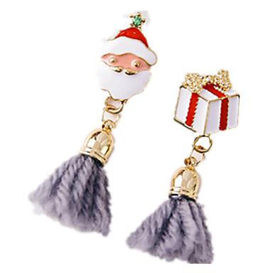 Kadın Vidali Küpeler Halka Küpeler Mücevher Chrismas Moda Simüle Elmas alaşım Animal Shape Geyik Kar Tanesi Mücevher Uyumluluk Parti